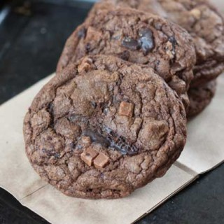 Jumbo Double Chocolate Cookies