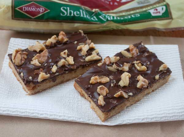 walnut toffee bars