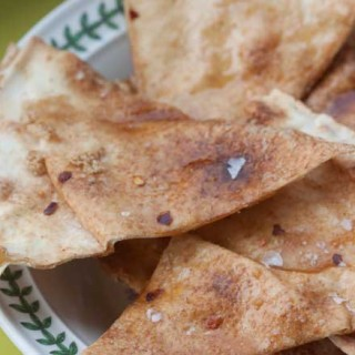 Sweet & Spicy Baked Tortilla Chips
