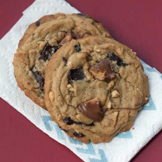 Giant Peanut Butter Chocolate Chunk Cookies