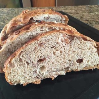 No Knead Roasted Apple Bread