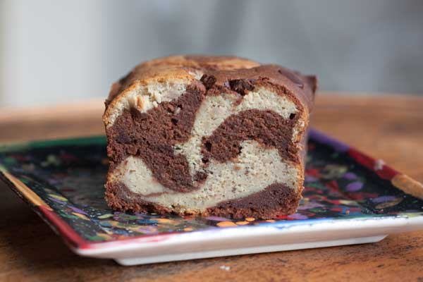 marbled banana bread