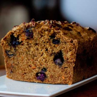 whole wheat carrot and blueberry bread