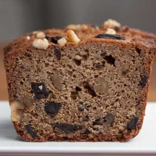 whole wheat chocolate chunk banana bread