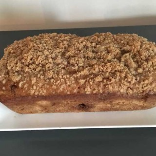 Rhubarb Bread With Streusel Topping