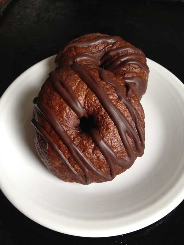 double chocolate bagels