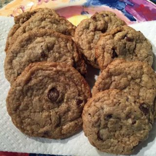 Wheat Free Oat Nut Chocolate Chip Cookies
