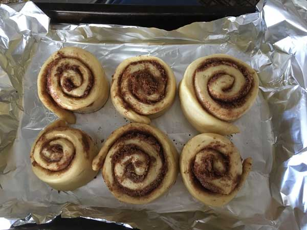 food processor cinnamon rolls