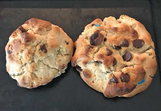 roasted flour chocolate chip cookies