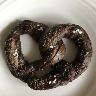 Soft Pumpernickel Pretzels