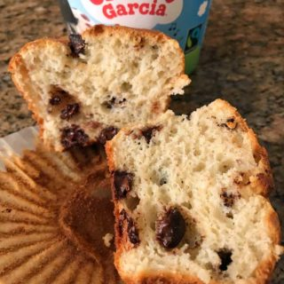 Cherry Garcia Melted Ice Cream Muffins