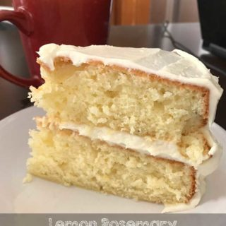 Lemon Rosemary Cake with Cream Cheese Frosting