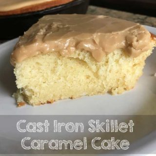 Small Cast Iron Skillet Caramel Cake