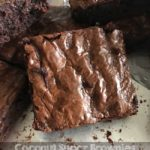 coconut sugar gluten free brownies