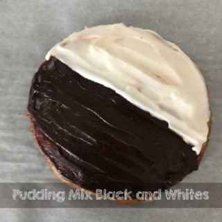 Pudding Mix Black and White Cookies