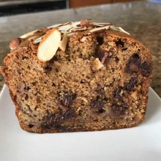 Spiced Chocolate Chip Rum Banana Bread