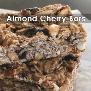 almond cherry bars