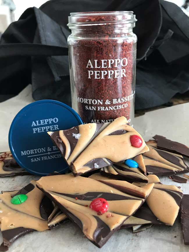Spicy Aleppo Tahini Chocolate Bark