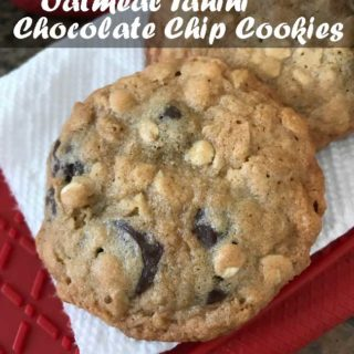 oatmeal tahini chocolate chip cookies