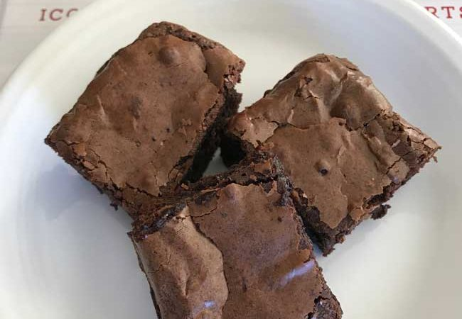 Glossy Fudge Brownies