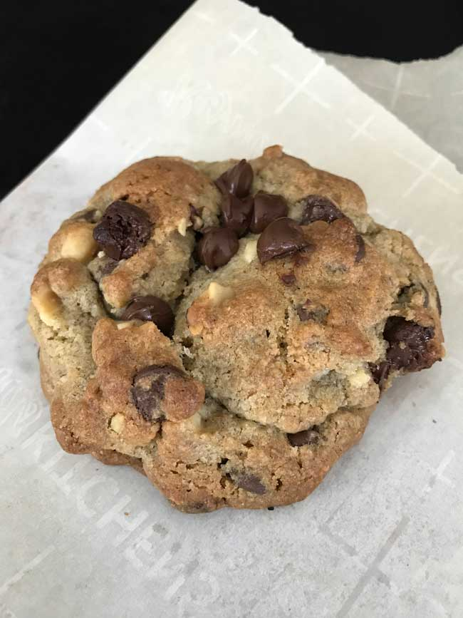 giant walnut rye flour chocolate chip cookies