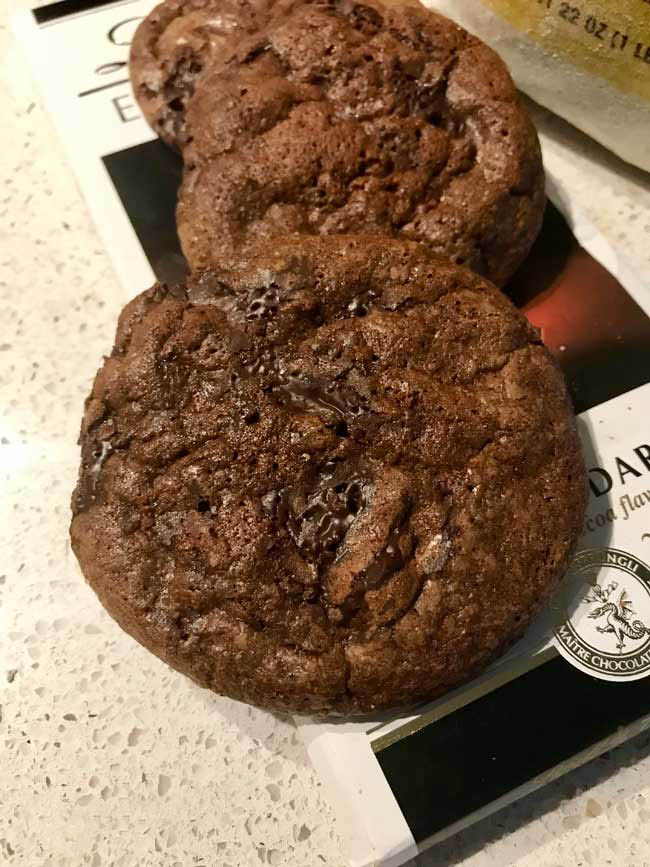 Double Chocolate Rye Flour Cookies