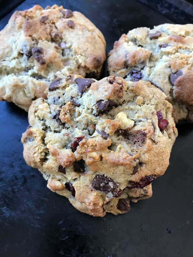 walnut rye flour chocolate chip cookies