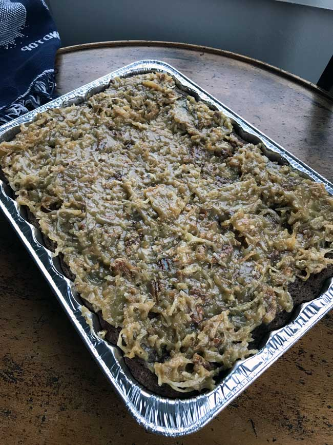 potluck german chocolate cake