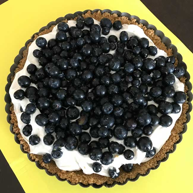 Mascarpone Blueberry Tart