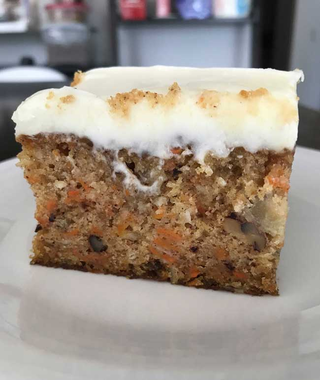 9x13 Inch Carrot Cake With Buttermilk Glaze Cookie Madness