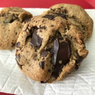 Gluten Free Vegan Chocolate Chunk Cookies