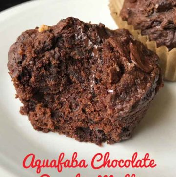 aquafaba chocolate pumpkin muffins