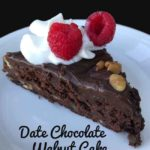 Date Chocolate Walnut Cake