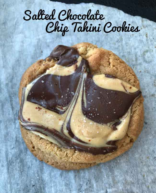 tahini chocolate chip cookie