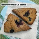 Whole Wheat Blueberry Olive Oil Scones