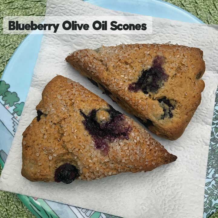 Blueberry Olive Oil Scones