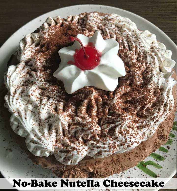 Six Inch Nutella Cheesecake