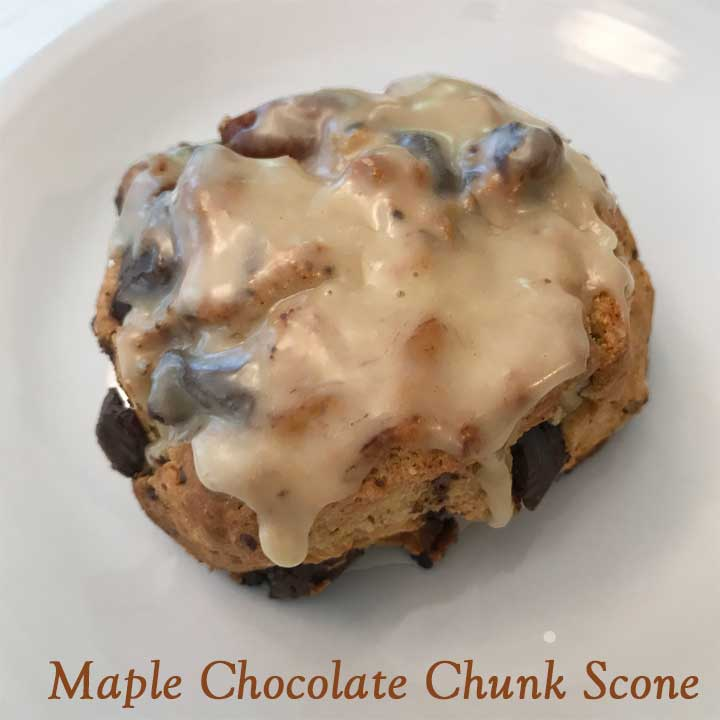 Whole Wheat Maple Chocolate Chunk Scones