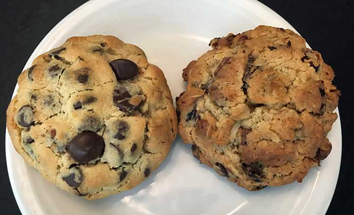 Whipped Egg Chocolate Chip Cookies and Whipped Egg Oatmeal Cookies