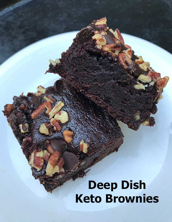 Deep Dish Keto Brownies with Allulose