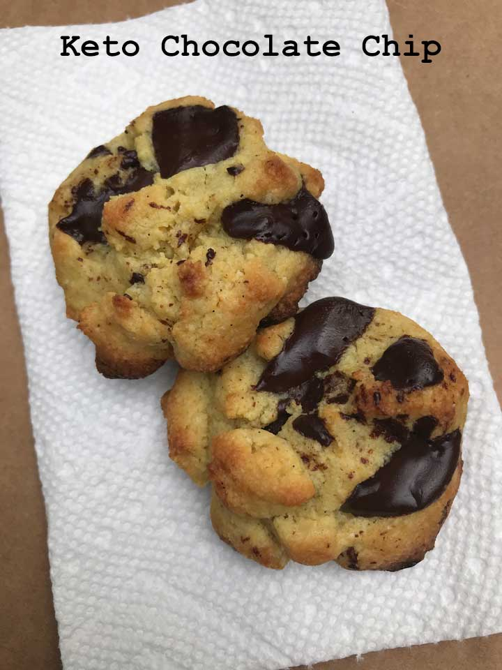 Small Batch Keto Chocolate Chip Cookies