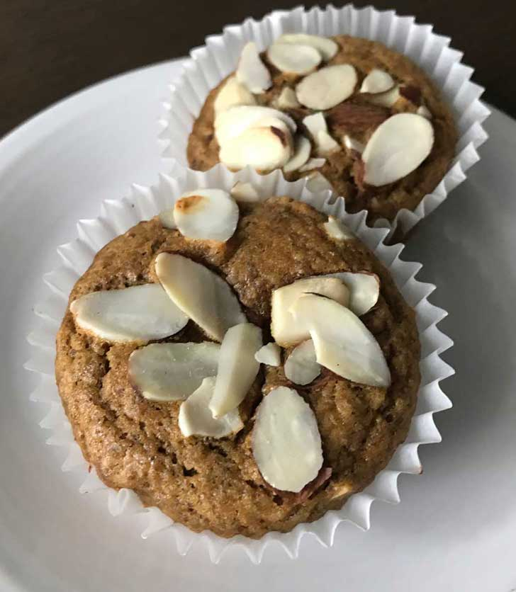 Keto Oat Fiber Muffins in cupcake papers.