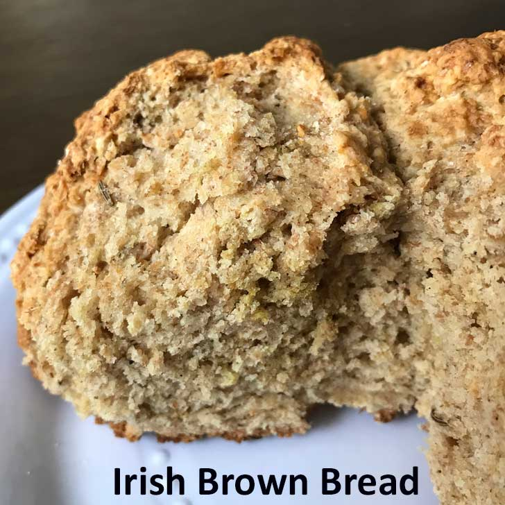 Irish Brown Bread baked in a 5 inch cast iron skillet