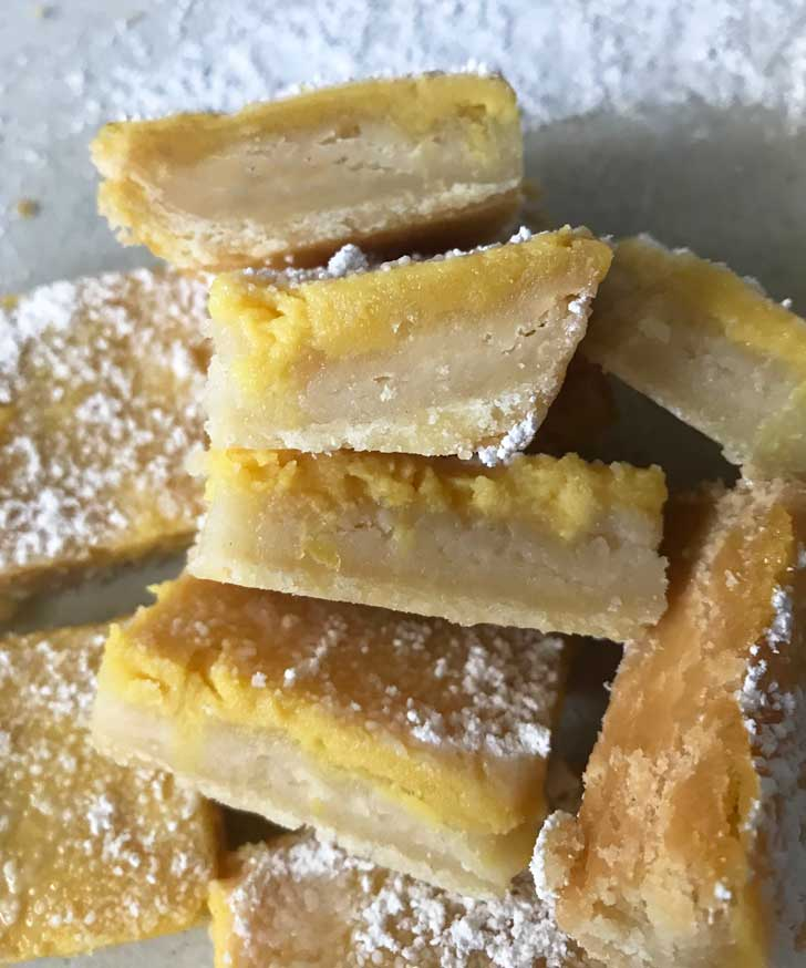 Eggless Lemon Squares without eggs