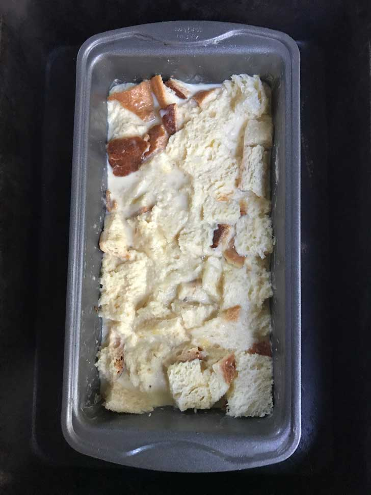 loaf pan bread pudding