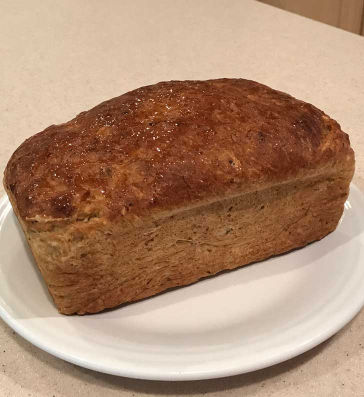 Caraway Cottage Cheese Bread is a no-knead yeast bread