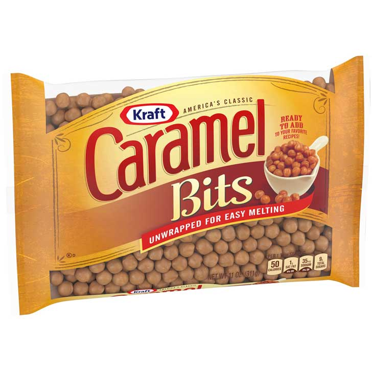 Kraft Caramel Bits are unwrapped caramels for baking.